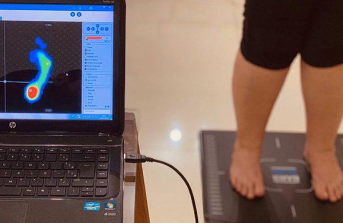 teste de baropodometria